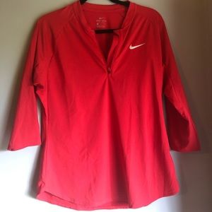 Nike Pro Player Court dry pure half zip 3/4 sleeve